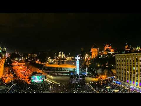 New Years Celebration Time-Lapse from Tallinn Estonia