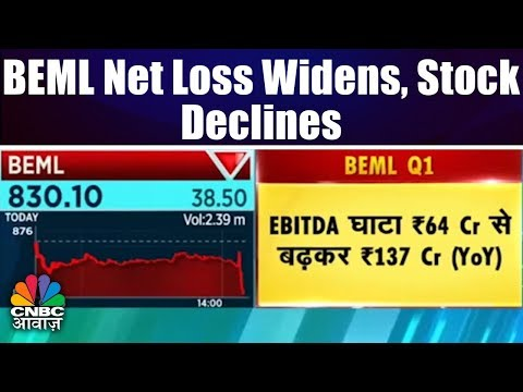 BEML Net Loss Widens, Stock Declines | BEML Quarterly Results | CNBC Awaaz