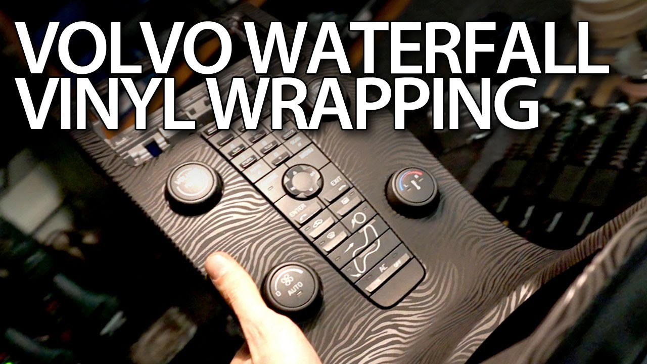 Volvo S40 2016 >> How to vinyl wrap waterfall console in Volvo V50, S40, C30, C70 (optical tuning modification ...