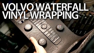 How to vinyl wrap waterfall console in Volvo V50, S40, C30, C70 (optical tuning modification)