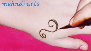 easy simple mehndi design for hand #eid