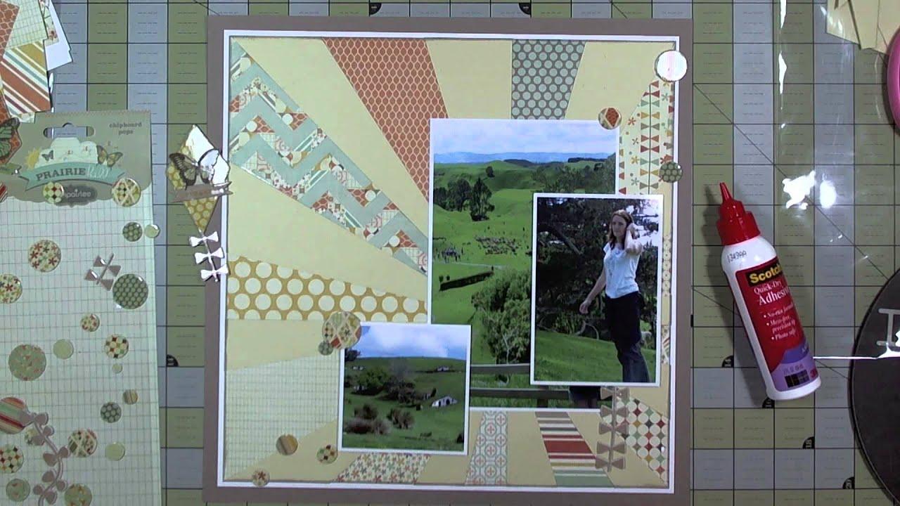 Vietnam scrapbook ideas - Scrapbook Layout 6 X6 Paper On A 12 X12 Layout