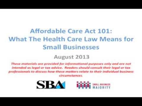 Affordable Care Act 101