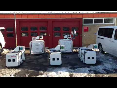 5 lidars in sync...the first multiple lidar system in the World