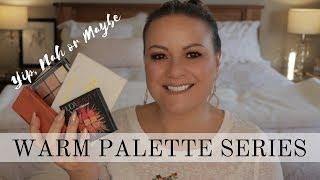 My Warm Eyeshadow Palettes - My picks - mature beauty