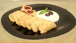 Вареники  с вишней  домашний    рецепт. Cherry dumplings.Home recipe