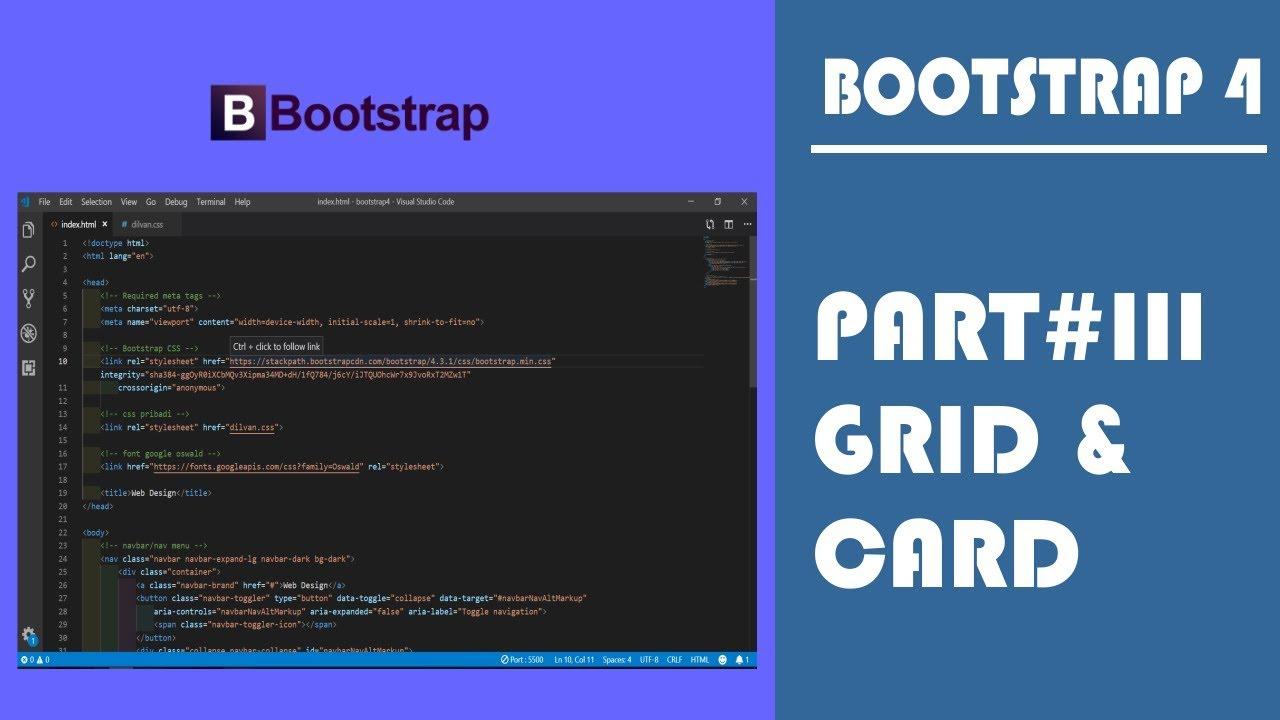 Belajar Bootstrap 4 Part 3 (Grid & Card)