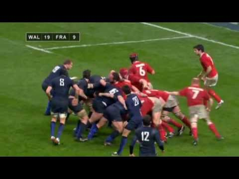 Wales v France - THAT SCRUM