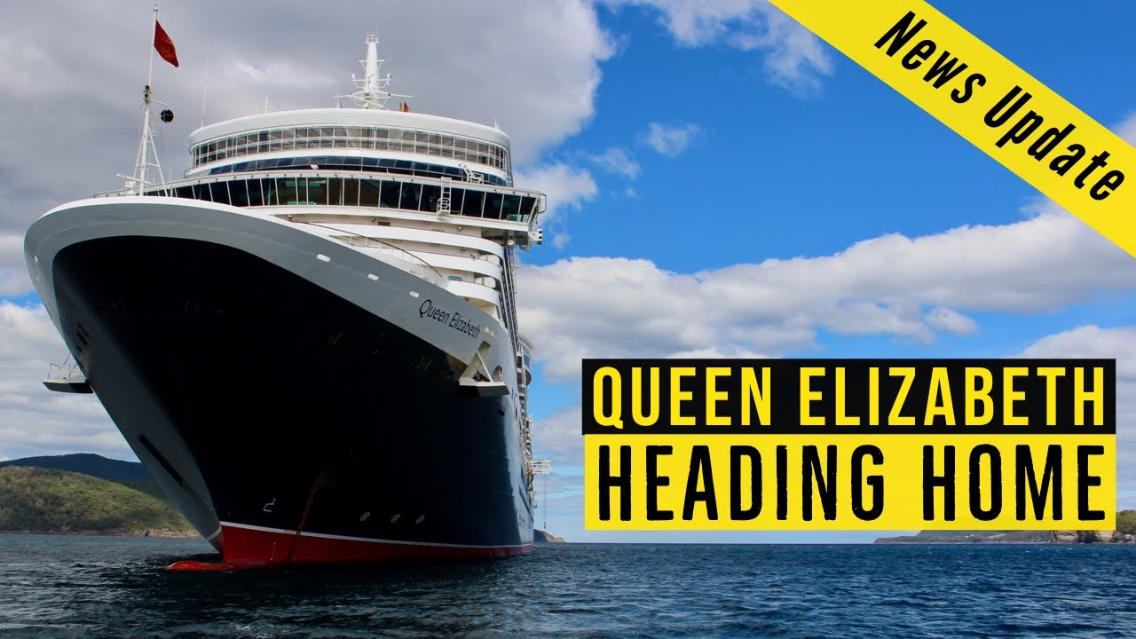 Queen Elizabeth is HEADING HOME! Cunard's Queen Elizabeth leaves the Philippines bound for the UK!