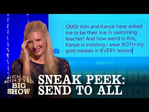 SNEAK PEEK: Send To All with Rebecca Adlington - Michael McIntyre's Big Show: Series 2 Episode 4
