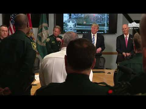 President Trump Participates in a Round Table with First Responders