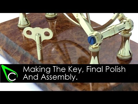 How To Make A Clock In The Home Machine Shop - Part 23 - Making The Key, Polishing And Assembly
