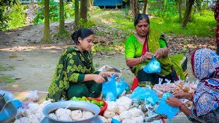 Ifter Recipe: Eggplant Pakora, Jalebi, Ghugni Recipe - Village Street Food by Village Food Life