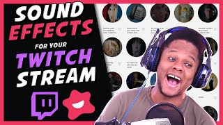 Twitch Sound Effects with Bits! (Twitch Extensions)
