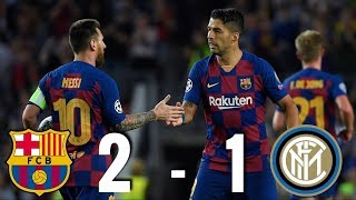 Barcelona Vs Inter Milan [2 1], Champions League, Group Stage 2019   Match Review