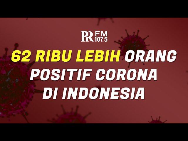 Update Corona di Indonesia 4 Juli 2020 : Kasus Mencapai 62.142 Positif