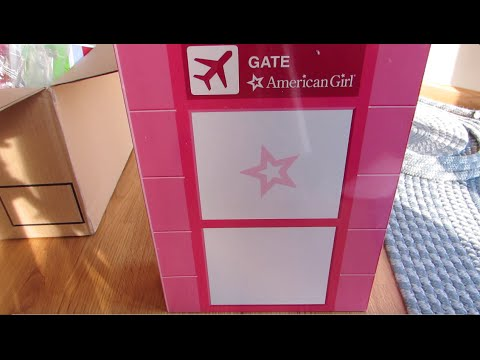 Opening the american girl first class flight set!
