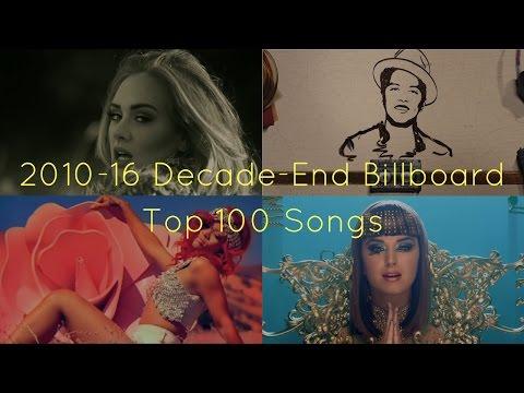Billboard's 2010's Decade Top 100 Songs (2010-2016)