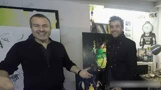 Visite de l'atelier du peintre Amaury dubois
