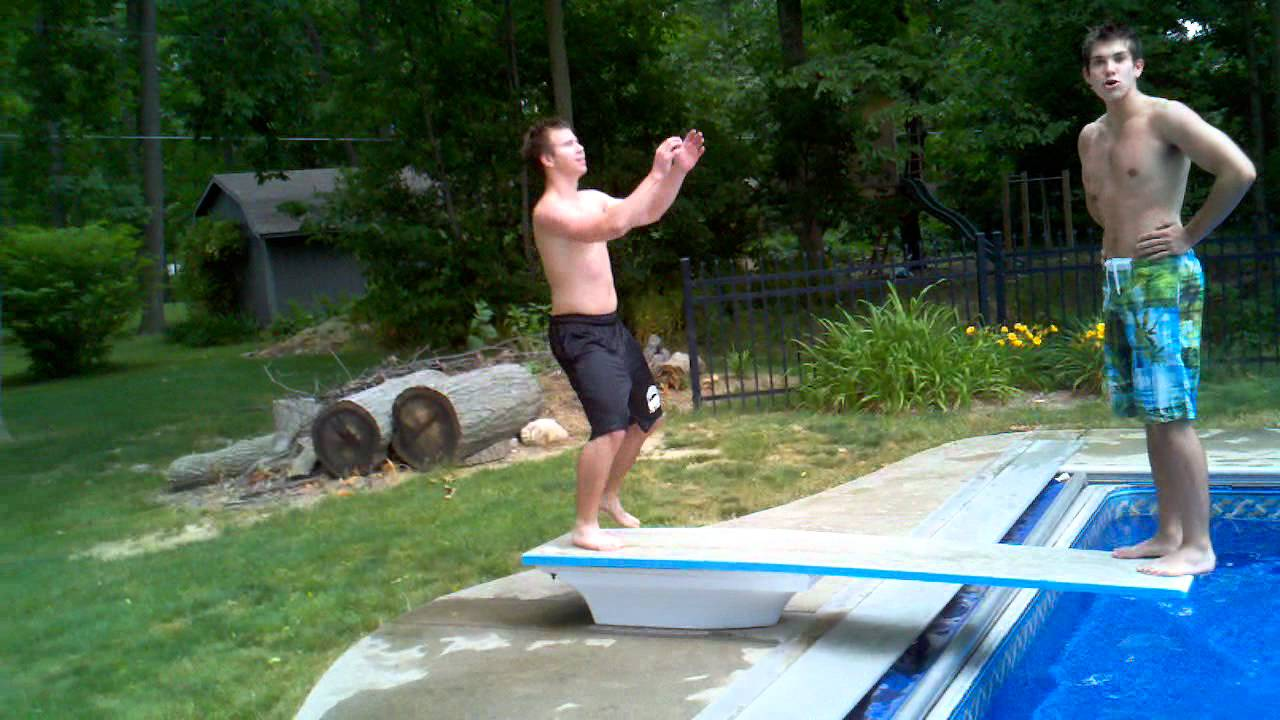 Joe Gets Speared Into The Pool Youtube