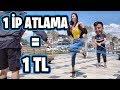 SOKAKTA PARA DAĞITMAK (1 İP ATLAMA = 1 TL) - YouTube