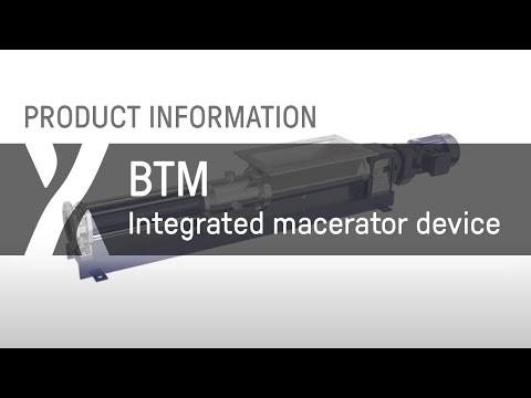 Trichterpumpe: BTM - Integriertes Zerkleinerungssystem