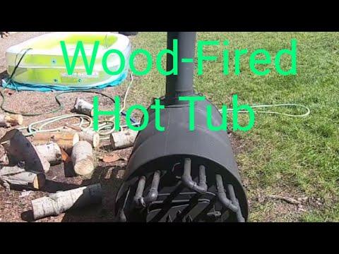 Wood-Fired Hot Tub Or Pool Heater