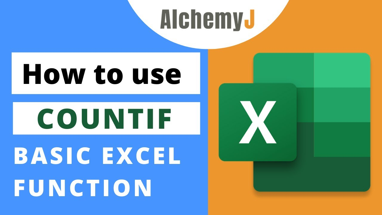 Basic Excel Function - How to use COUNTIF Function in Excel
