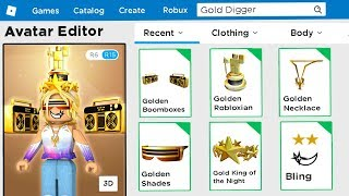 I Made a GOLD DIGGER Roblox Account!