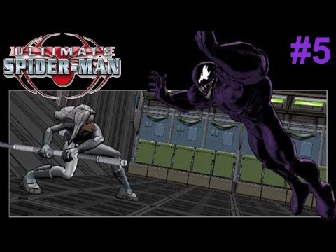 Ultimate Spider-Man PS2 Gameplay #5 [Venom V.S Silver Sable]