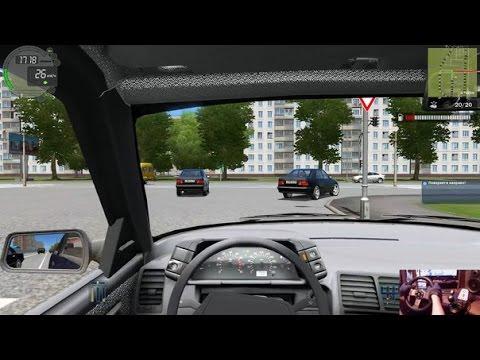 City Car Driving. Карьера. Ветка: Опытный. Руль Logitech G27.