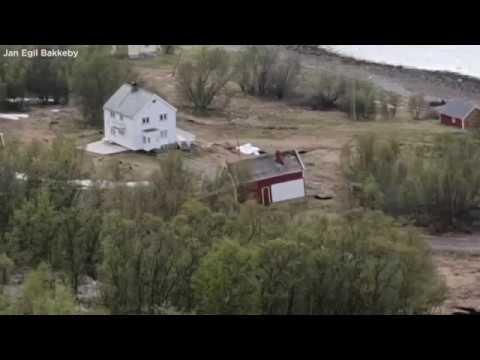 NORWAY LANDSLIDE: Massive landslide sweeps 8 homes into the sea | ABC7