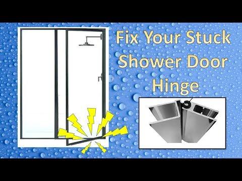 Sticking Shower Door Hinge Repair Youtube