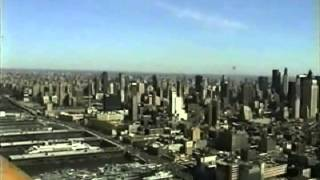Flying the Hudson Cooridor by the Twin Towers NYC 1998