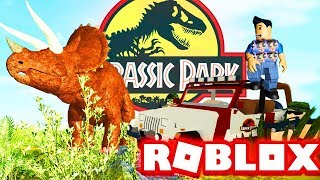 JURASSIC PARK ROBLOX DINOSAUR TESTING - (Lets Play Video Youtube Bambini)