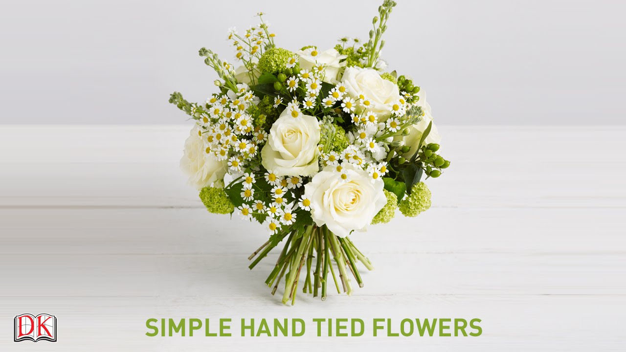 Flower Arrangement Tutorial Simple Hand Tied Flowers Youtube