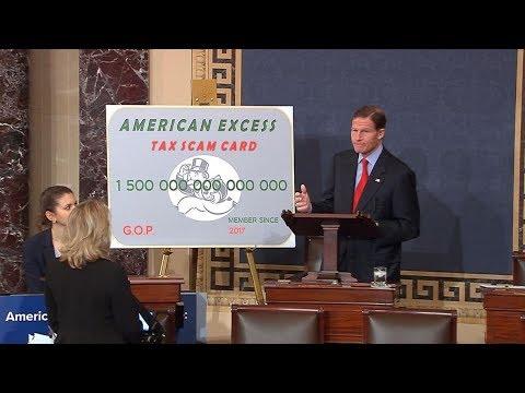 Sen. Blumenthal Speaks on GOP Tax Scam, Amtrak Derailment