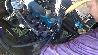 1967 F100 Ford Truck (water pump install) 240