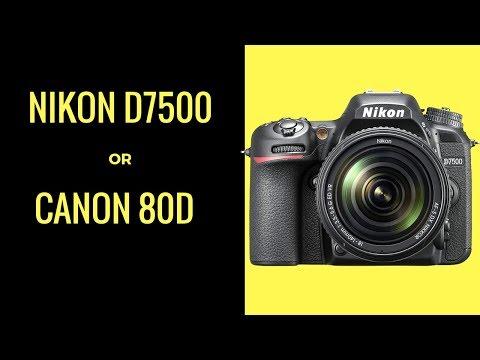 Nikon D7500 vs Canon 80D - Should I UPGRADE My Nikon D300?
