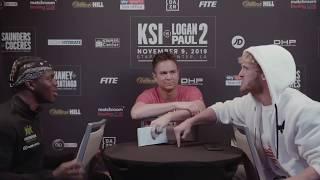 Logan Paul Spits At KSI During Face-To-Face (tfu 3alek)