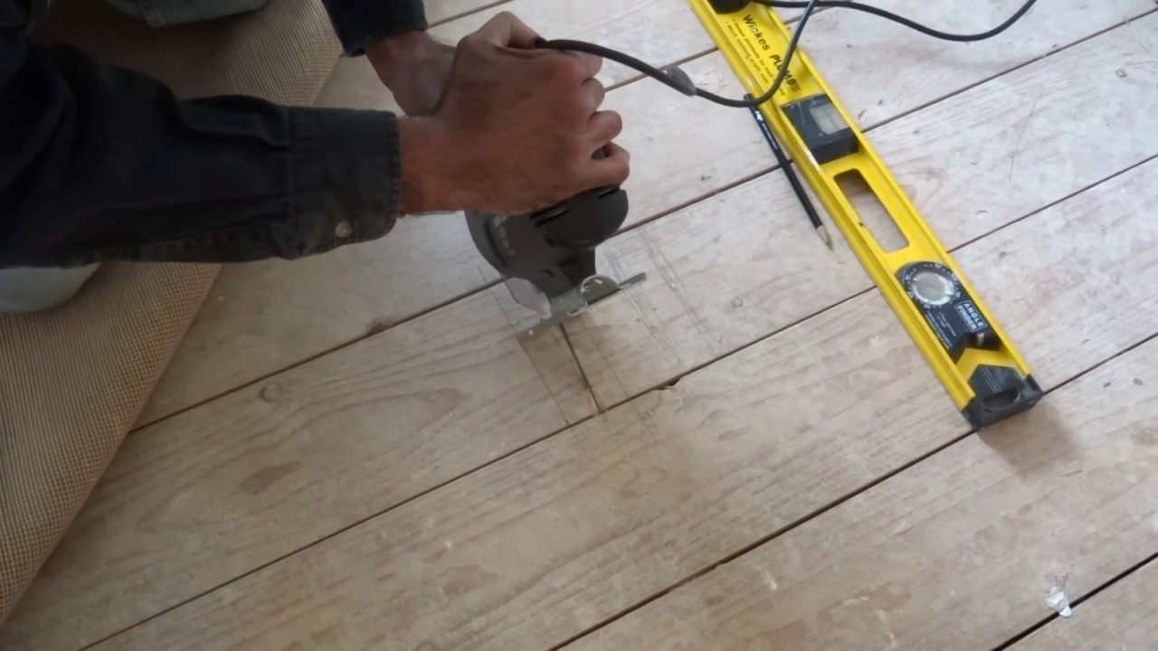How To Cut And Lift Floor Boards Youtube
