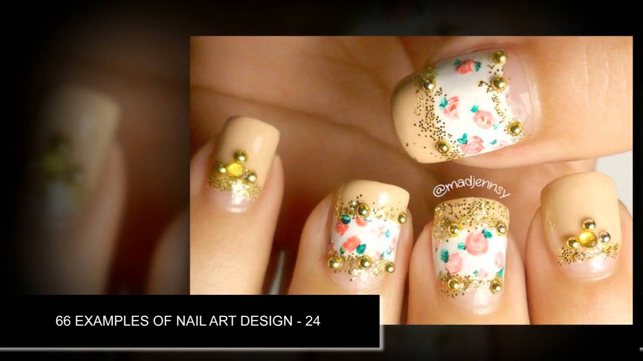 66 Examples Of Nail Art Compilation With Jewels ♥ Nail art designs ...
