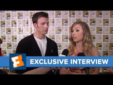 Chris Evans Scarlett Johansson Comic-Con 2013 Exclusive Interview | Comic Con | FandangoMovies