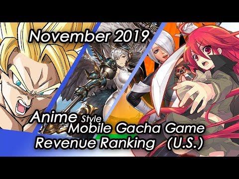 (U.S)November 2019 Anime Gacha Mobile Game Revenue Tier List