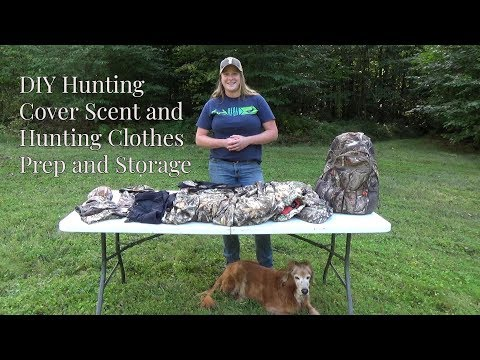 DIY Hunting Cover Scent And Hunting Clothes Prep And Storage
