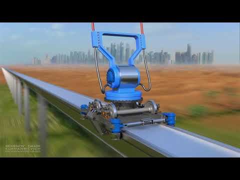 Flying trains in