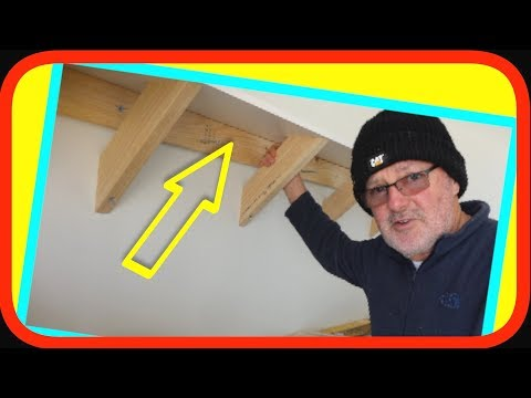 Heavy Duty Suspended Wall Mounted Garage SHELF | How to DIY