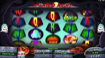 Haunted Night™ slot game by Genesis Gaming | Gameplay video by Slotozilla