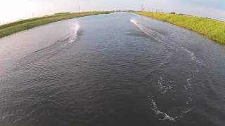 RC Boats filmed by Drone