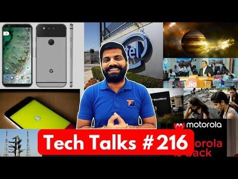 Tech Talks #216 - Oneplus 5 Registrations, Jio is Down, Google Pixel 2,  WannaCry, J7 Max, J7 Pro